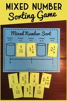 Fraction Sorting Game: Comparing and Ordering Mixed Numbers