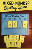 Fraction Sorting Game: Comparing & Ordering Mixed Numbers, Math Center