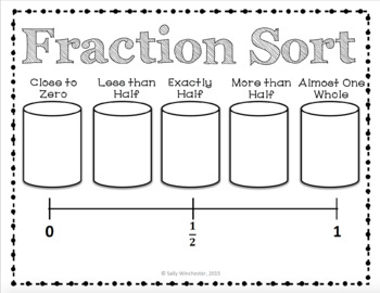 Fraction Sort Game: Comparing & Ordering Using Benchmark Fractions, 8 Games!