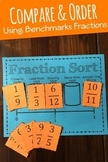 Comparing Fractions Sorting Game: Comparing & Ordering Fractions Math Center