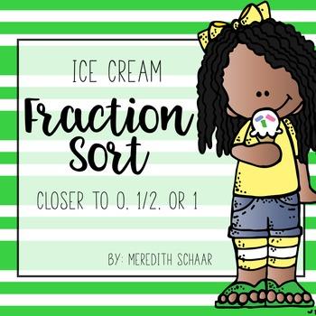 Fraction Sort: Ice Cream Edition
