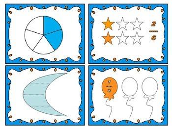 Fraction Sort Math Workshop Center Games