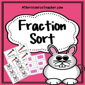 Fraction Sort (Spring Theme)