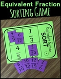Fraction Sorting Game: Equivalent Fractions Game (Math Center, Number Sort)