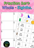 Fraction Sorting - Whole, half, third, quarter, fifth, sixth, seventh and eighth