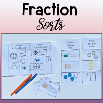 Fraction Sorts--Halves, Thirds, Fourths, Equal and Nonequal Parts