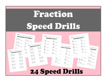 Fraction Speed Drills