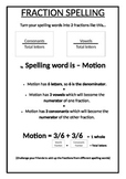 Fraction Spelling Activity - Spelling Lists with a Twist