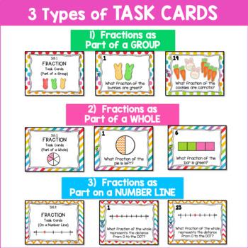 Fraction Task Cards | Craft | Spring Peeps