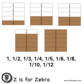 Fraction Square Clip Art 425 Images - CU OK! ZisforZebra