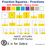 Fraction Square Clip Art 425 Images - CU OK! ZisforZebra