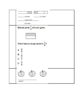 Fraction Standards Based Assessment