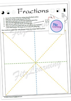 Fraction Star Cut-out