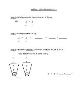 Fraction Stars- Adding Unlike Denominators