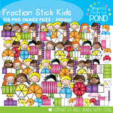 Fraction Stick Kids Clipart