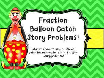 Fraction Story Problem, Multi Step Center Game