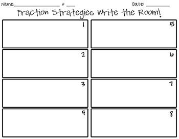 Fraction Strategies Write the Room!