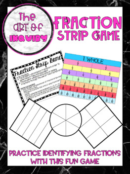 Fraction Strip {Recognizing Fractions, Equivalent Fractions, Adding Fractions}