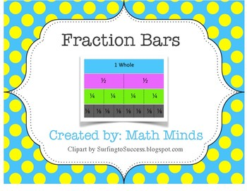 fraction bars student math tool by math minds tpt