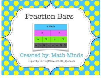 Fraction Strips Flip Book- Student Math Tool