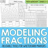 Fraction Strips and Number Line Models Reusable Math Modeling Tools