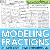 Fraction Strips and Number Line Models Reusable Math Model