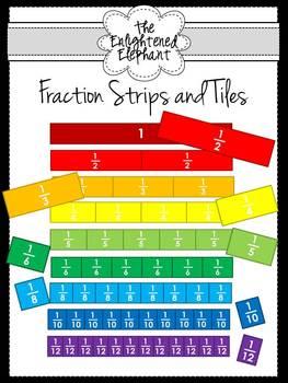 Fraction Strips and Tiles Clip Art