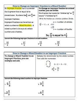 Fraction Study Guide