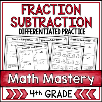 Subtracting Fractions Worksheets