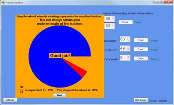 Fraction Subtraction Game: A Computer Game Teaching Subtracting Fractions