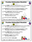 Fraction Subtraction Checklist