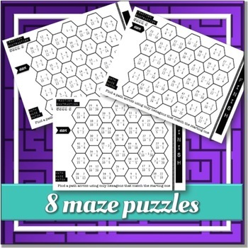 Fraction Subtraction (MATH MAZE MATCH)