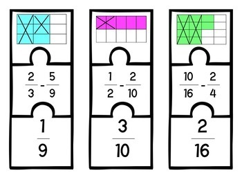 Fraction Subtraction Puzzles 5.3H