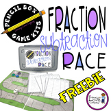 Fraction Subtraction Race - Pencil Box Game Kit {FREEBIE}