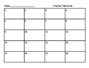 Fraction Subtraction with renaming task cards, scoot, puzzle
