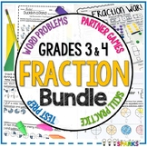 Fraction Activities 3rd and 4th Grade Bundle
