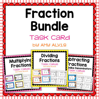 Fraction Task Cards - Computation Bundle
