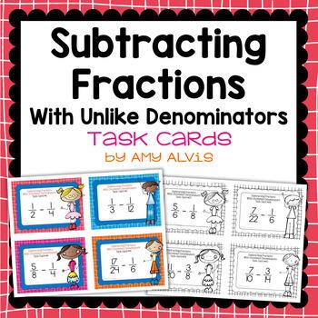 Fraction Operations Task Cards Bundle
