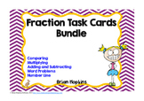 Fraction Task Card Bundle Common Core