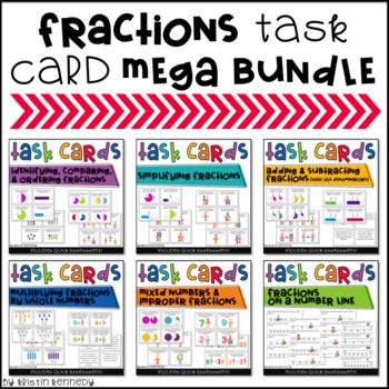 Fractions Task Card Mega Bundle