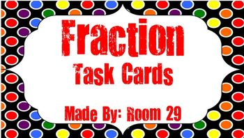 Fraction Task Cards