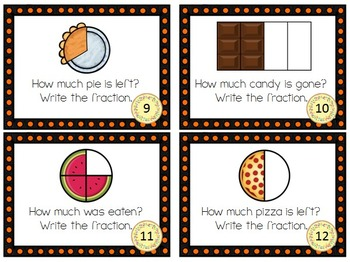 Fractions Task Cards or Scoot