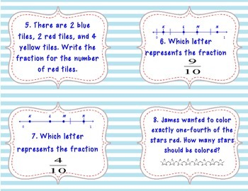 3rd Grade Fraction Task Cards