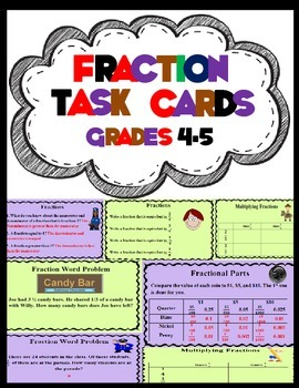 Fraction Game Cards