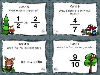 Fraction Task Cards, Math Center