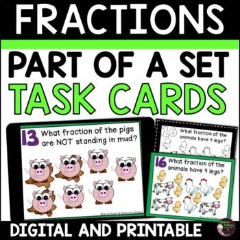 Fraction Task Cards- Parts of a Set