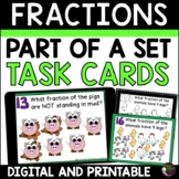 Fraction Task Cards- Parts of a Set