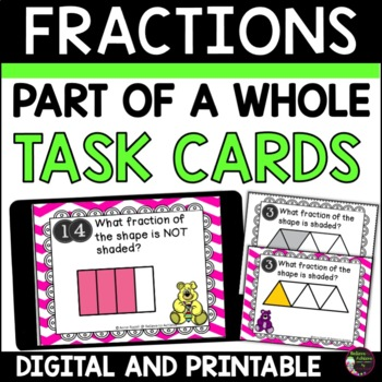 Fraction Task Cards- Parts of a Whole