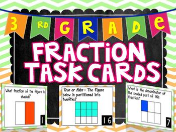 3rd Grade Fraction Task Cards
