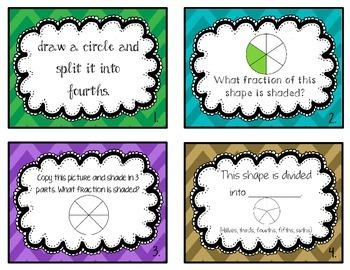 Fraction Task Cards (2.G.3)
